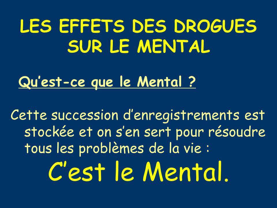 C'est le Mental. LES EFFETS DES DROGUES SUR LE MENTAL