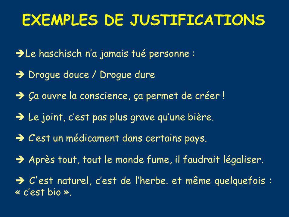 EXEMPLES DE JUSTIFICATIONS