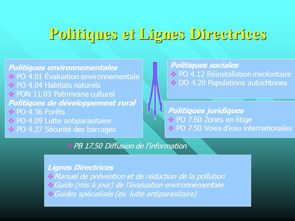 Politiques et Lignes Directrices
