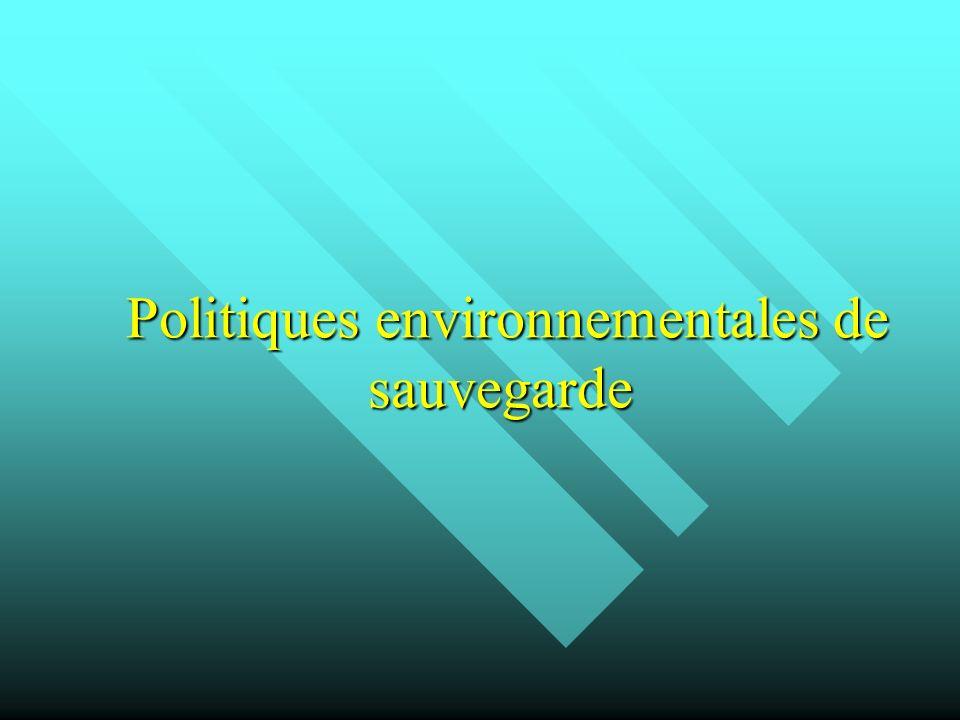 Politiques environnementales de sauvegarde