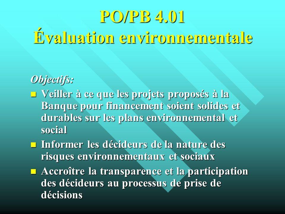 PO/PB 4.01 Évaluation environnementale