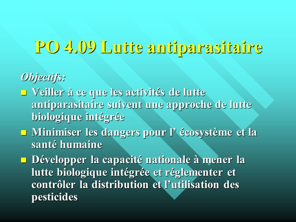 PO 4.09 Lutte antiparasitaire