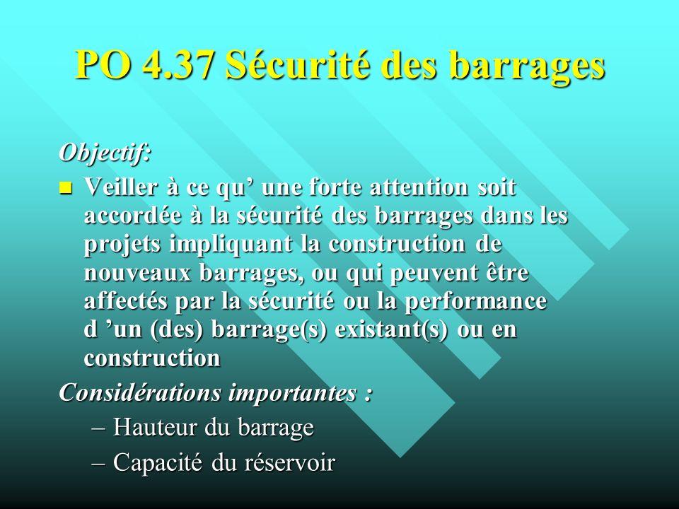 PO 4.37 Sécurité des barrages