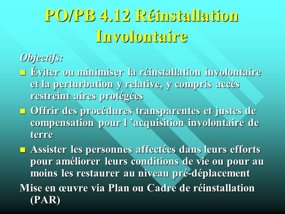 PO/PB 4.12 Réinstallation Involontaire