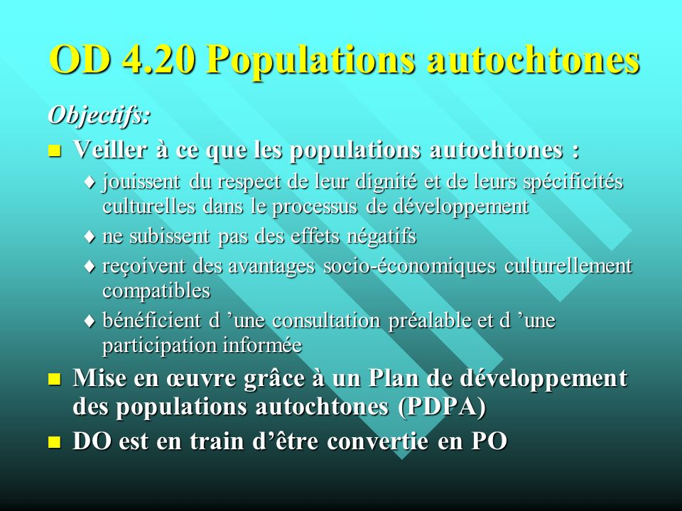 OD 4.20 Populations autochtones