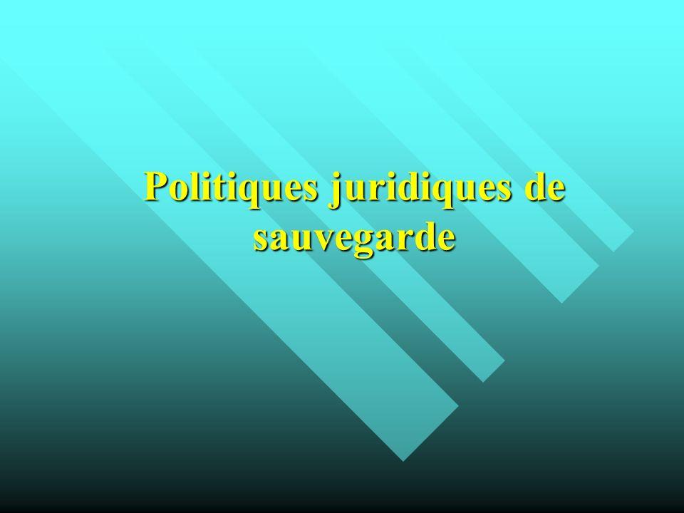Politiques juridiques de sauvegarde