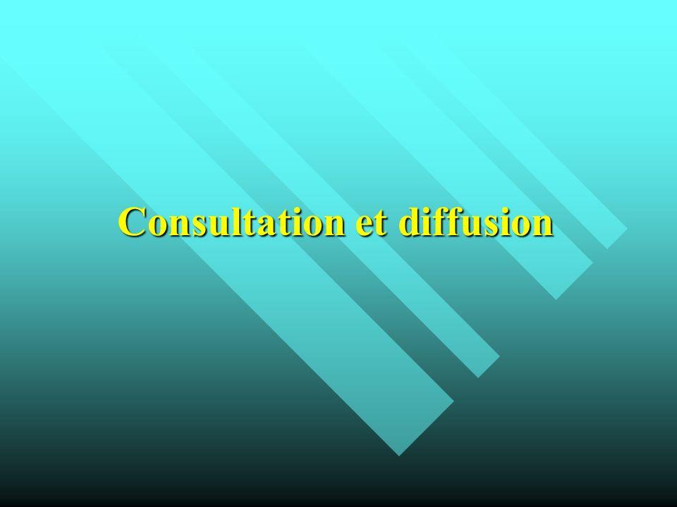 Consultation et diffusion