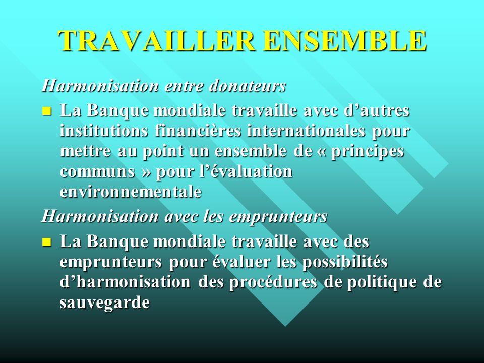 TRAVAILLER ENSEMBLE Harmonisation entre donateurs