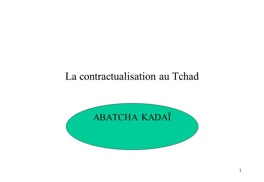 La contractualisation au Tchad