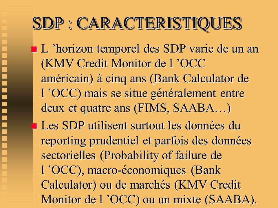 SDP : CARACTERISTIQUES