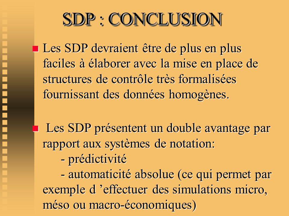 SDP : CONCLUSION