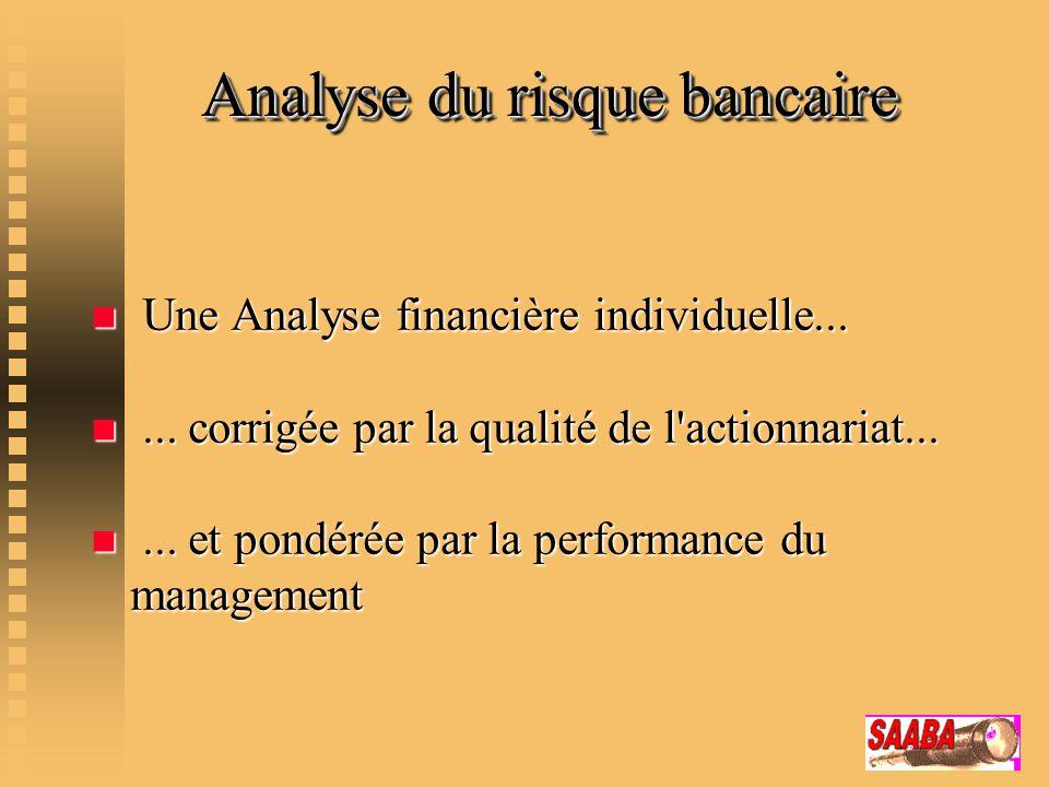 Analyse du risque bancaire