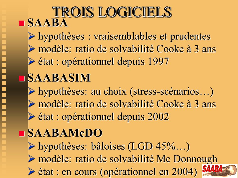 TROIS LOGICIELS
