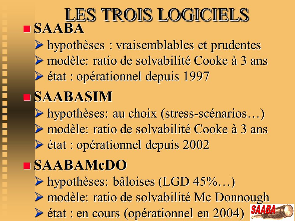 LES TROIS LOGICIELS