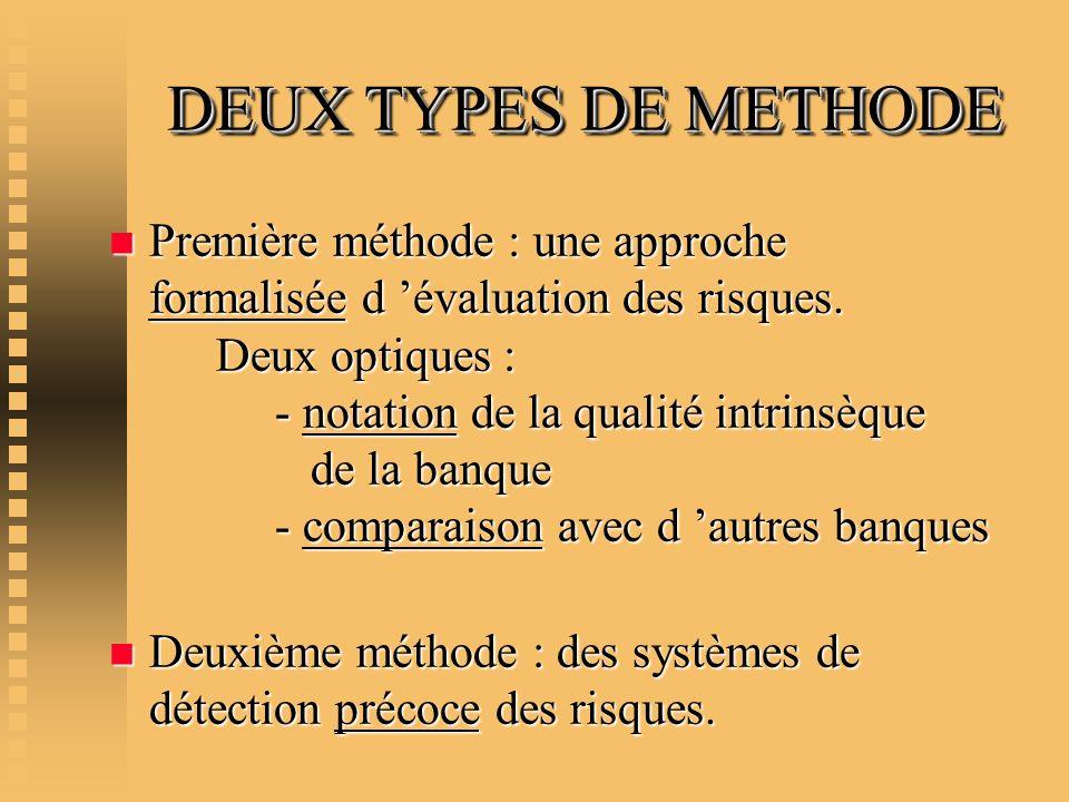 DEUX TYPES DE METHODE
