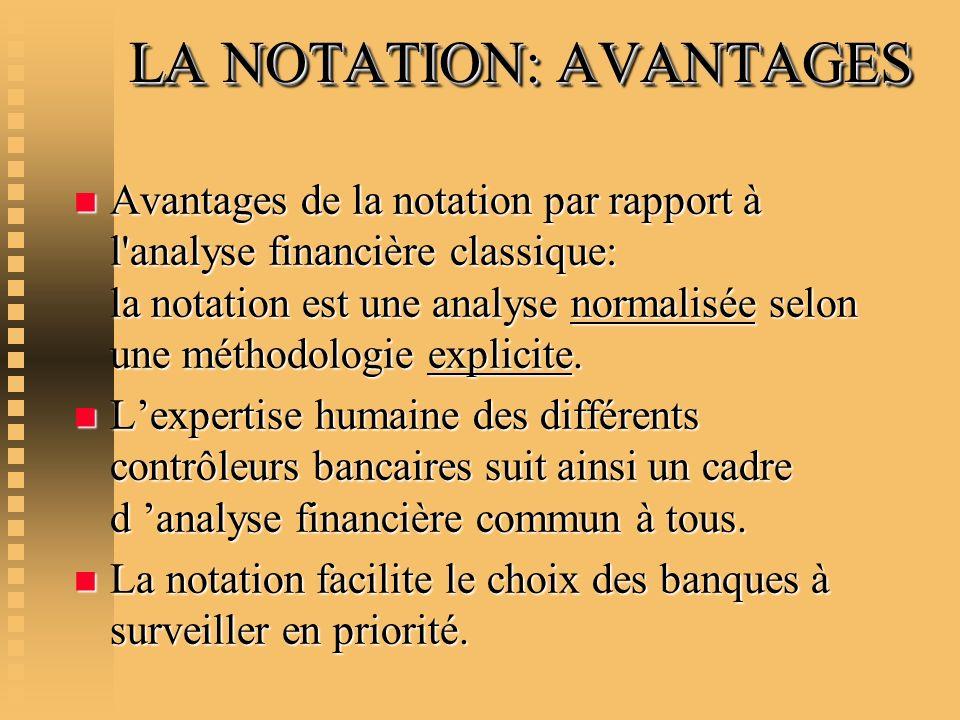 LA NOTATION: AVANTAGES