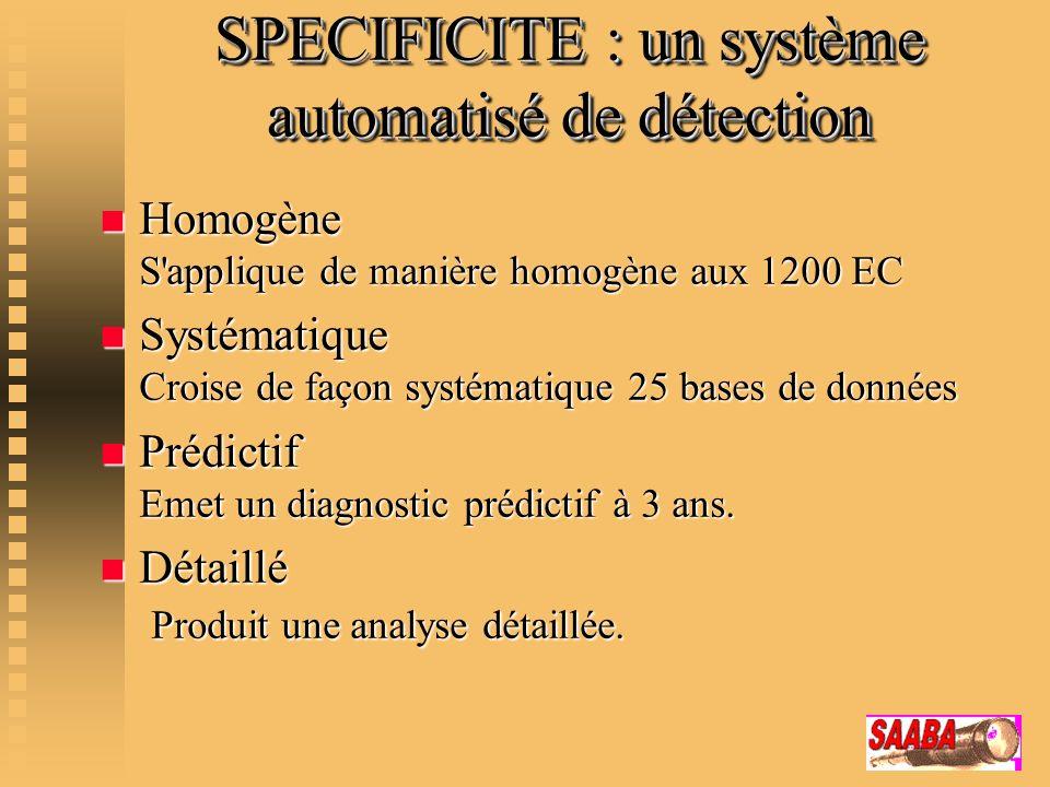 SPECIFICITE : un système automatisé de détection