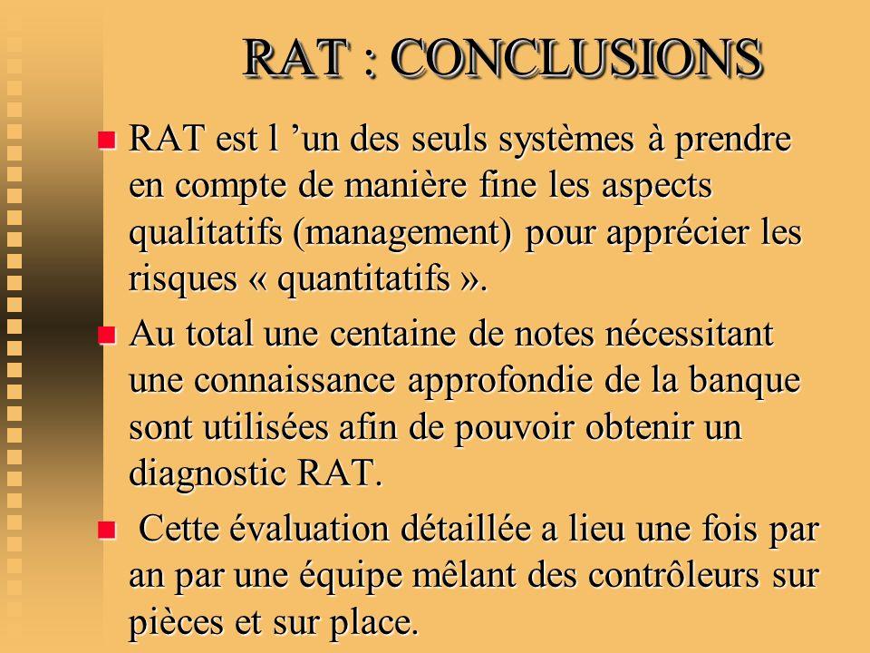 RAT : CONCLUSIONS