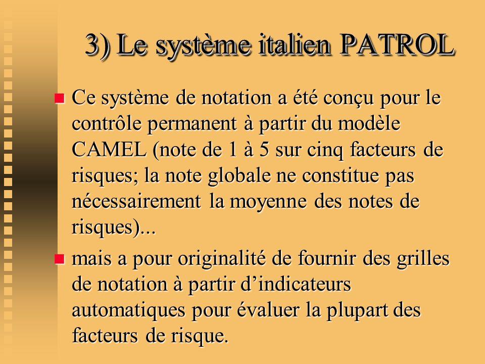 3) Le système italien PATROL