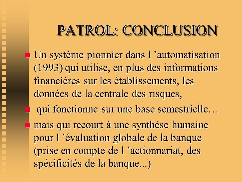 PATROL: CONCLUSION