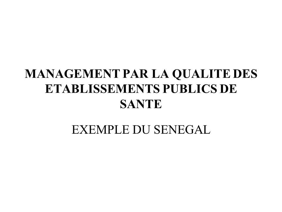 MANAGEMENT PAR LA QUALITE DES ETABLISSEMENTS PUBLICS DE SANTE