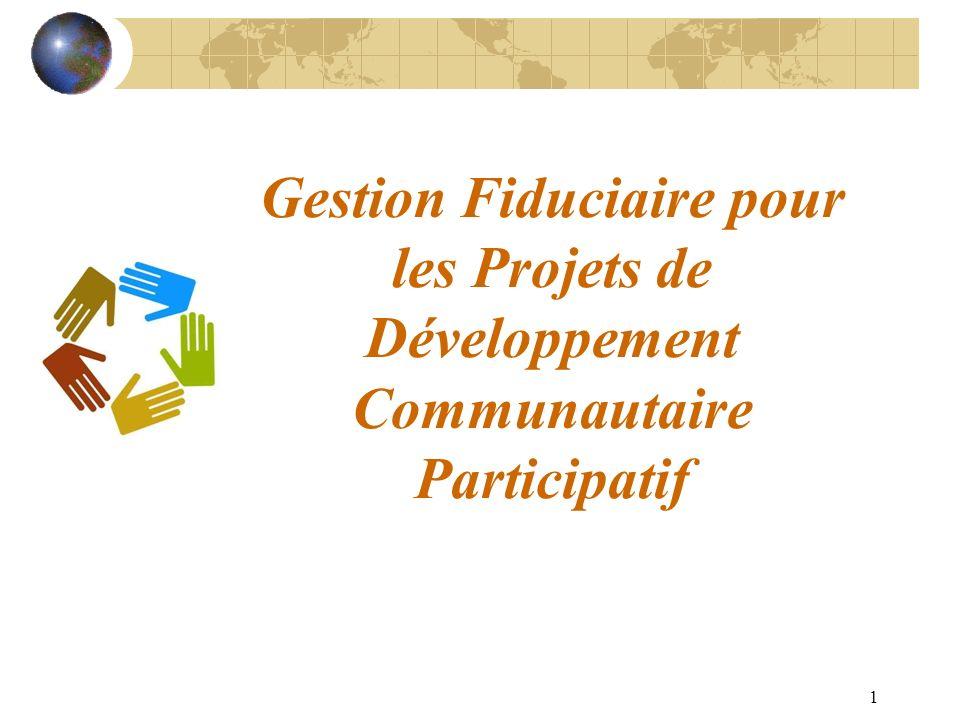 Gestion Fiduciaire pour les Projets de Développement Communautaire Participatif