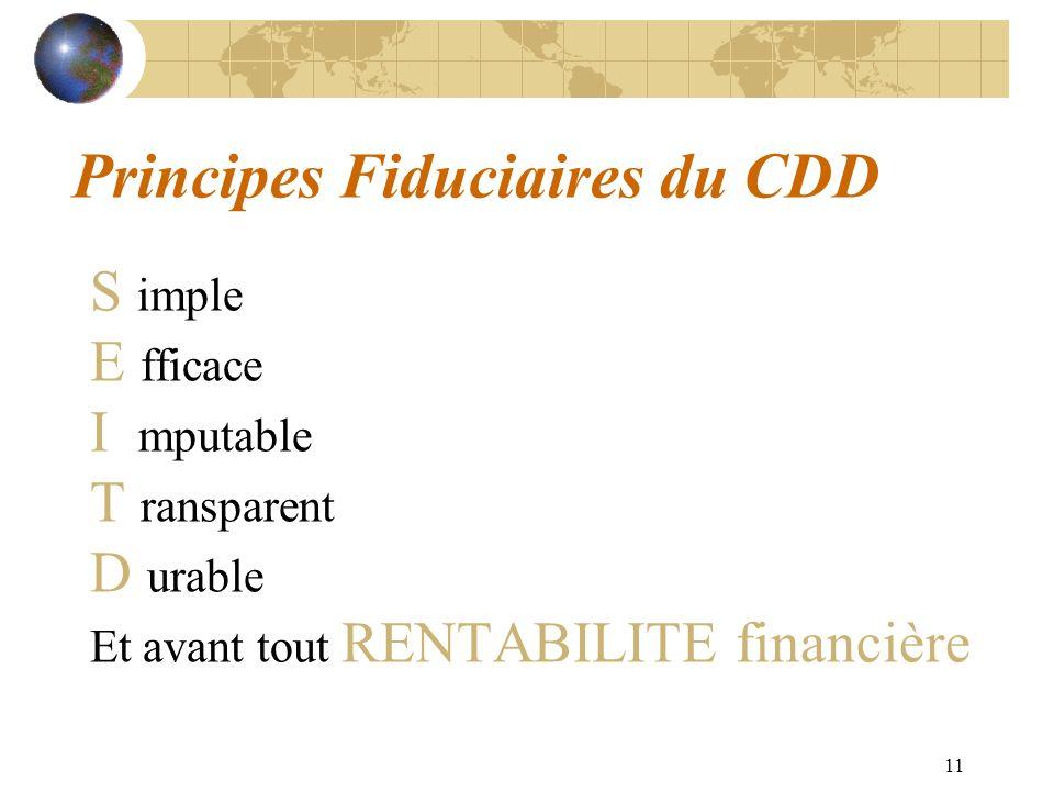 Principes Fiduciaires du CDD