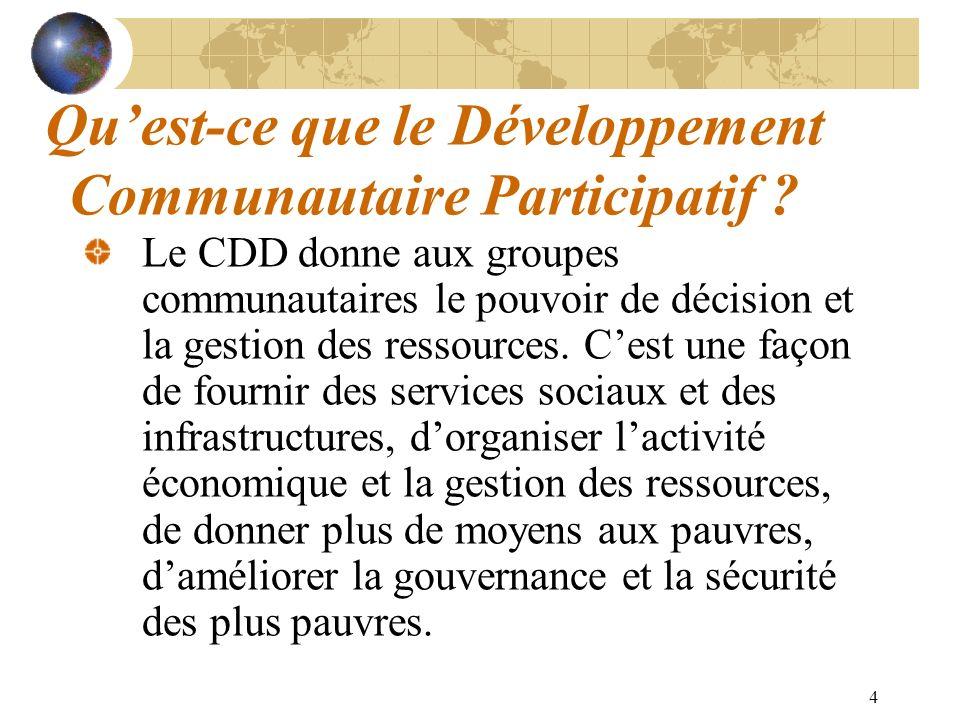 Qu'est-ce que le Développement Communautaire Participatif
