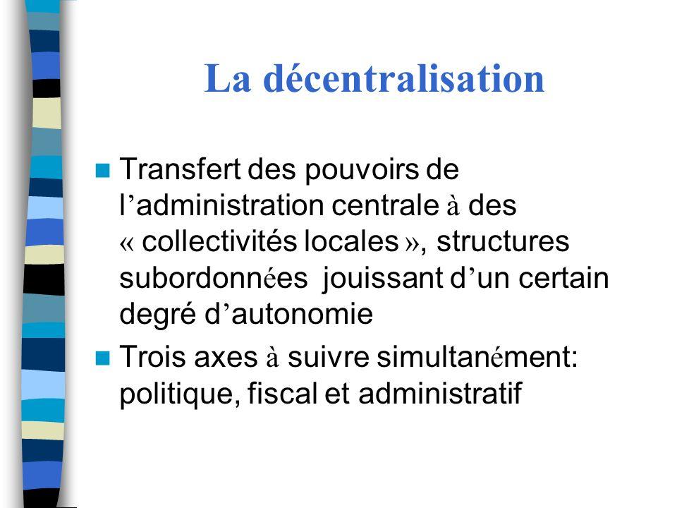 La décentralisation
