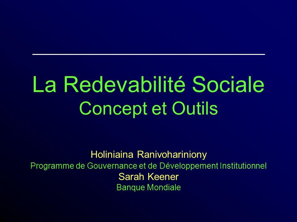 La Redevabilité Sociale Concept et Outils