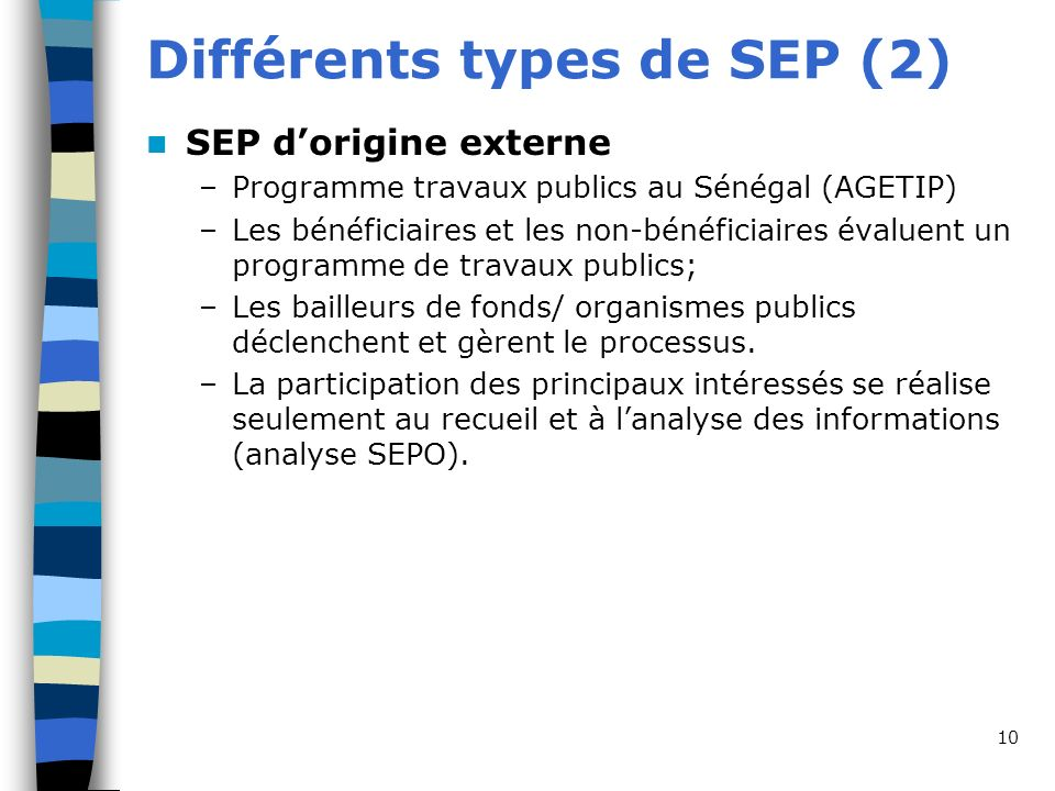 Différents types de SEP (2)