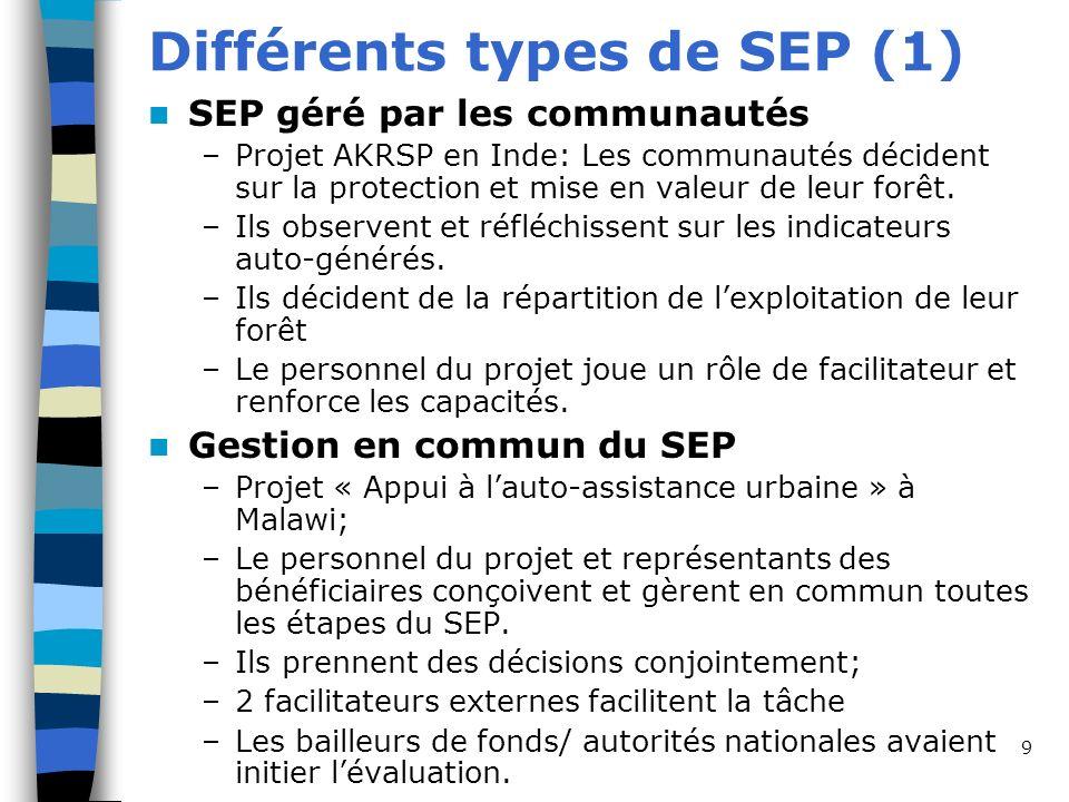 Différents types de SEP (1)