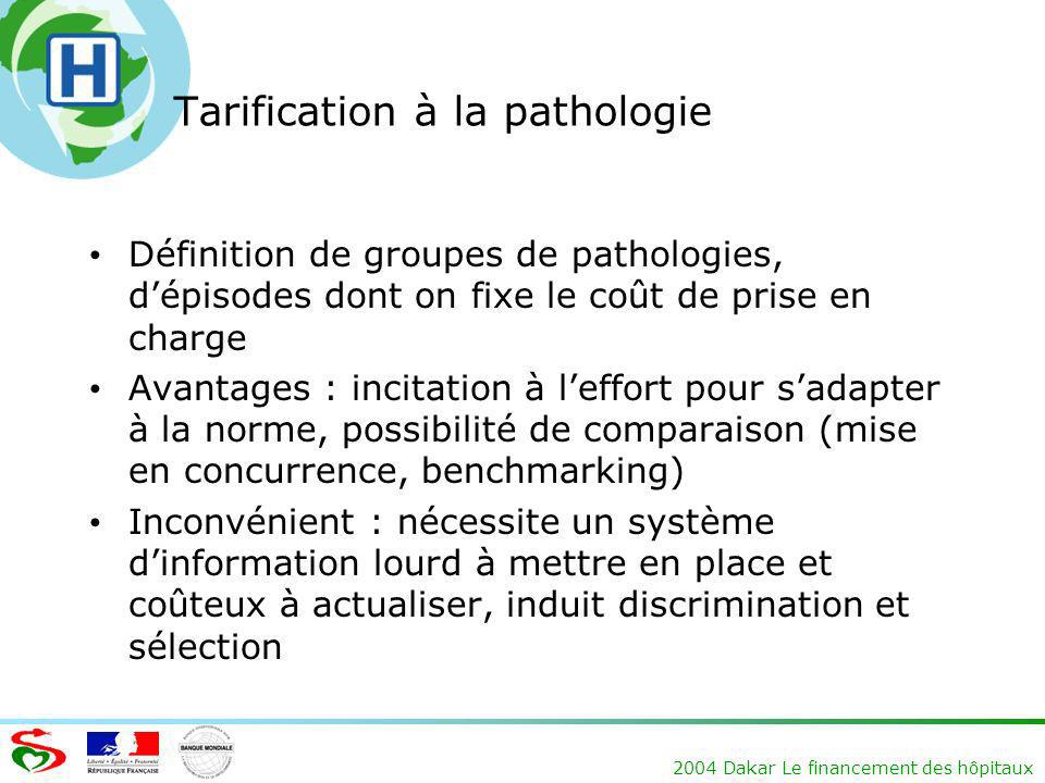 Tarification à la pathologie