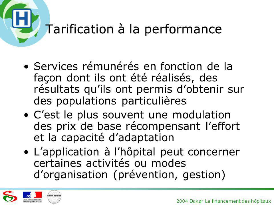 Tarification à la performance