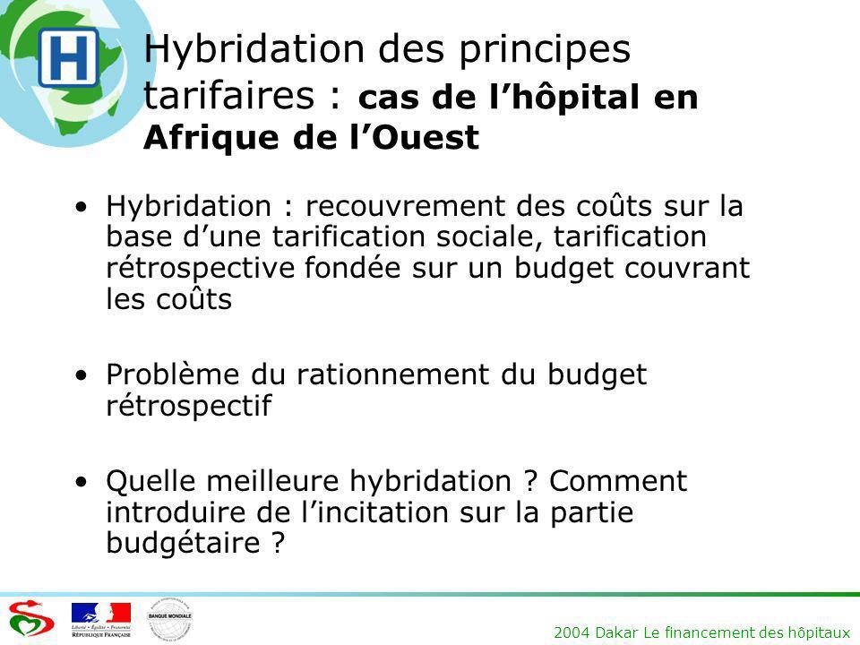 Hybridation des principes tarifaires : cas de l'hôpital en Afrique de l'Ouest