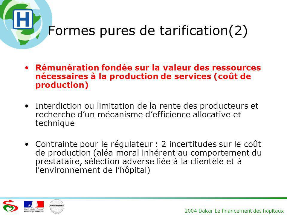 Formes pures de tarification(2)