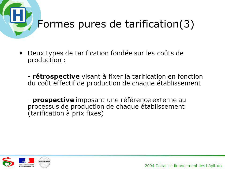 Formes pures de tarification(3)