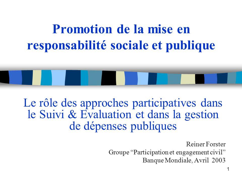 Promotion de la mise en responsabilité sociale et publique