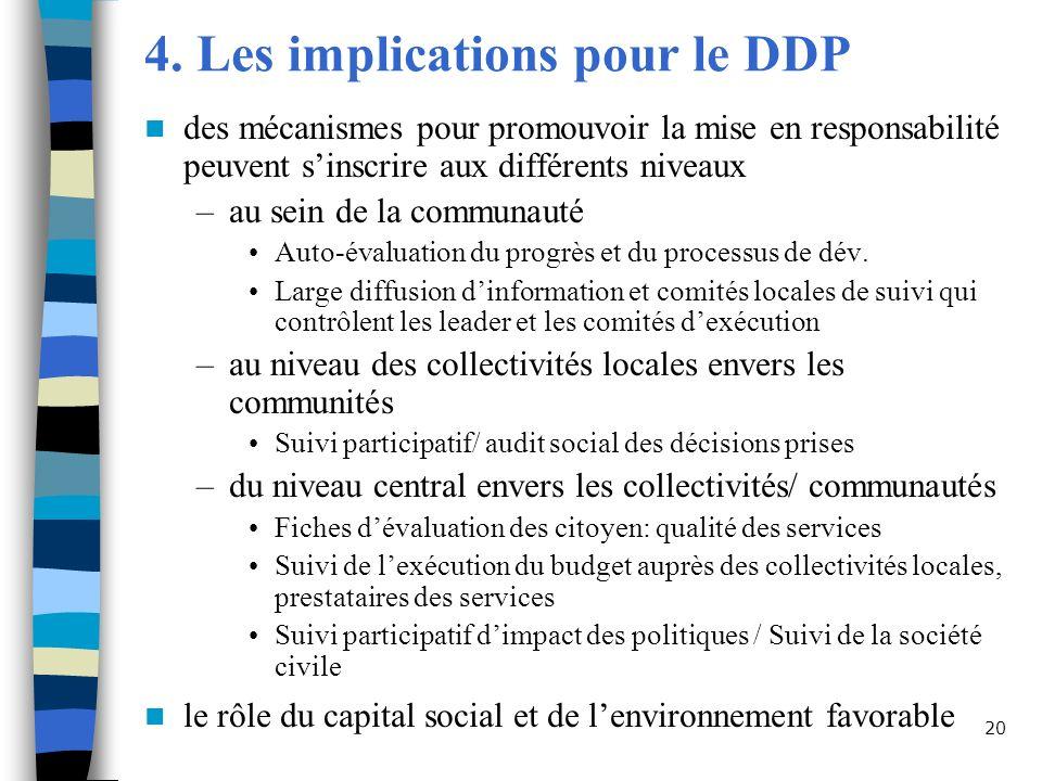 4. Les implications pour le DDP
