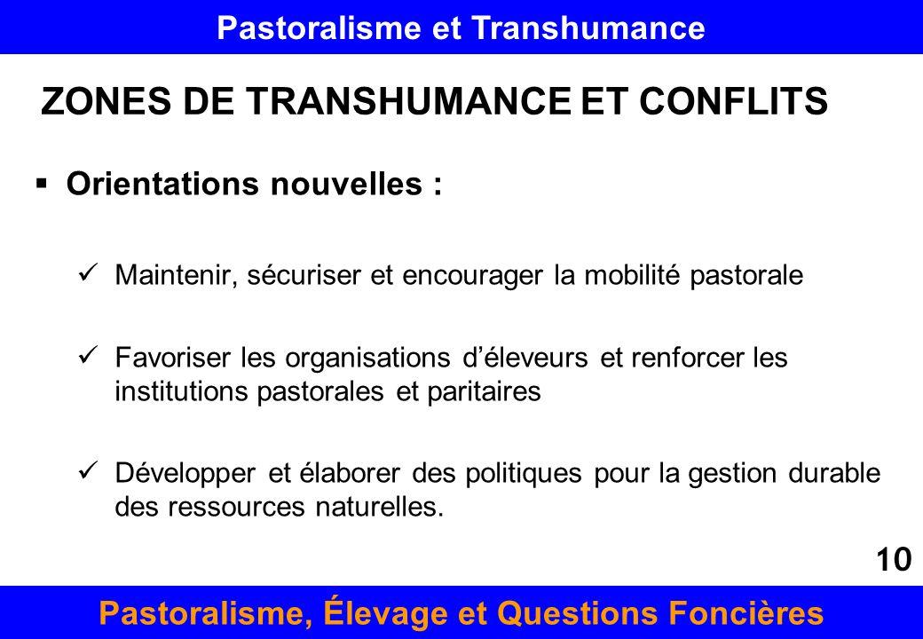 ZONES DE TRANSHUMANCE ET CONFLITS