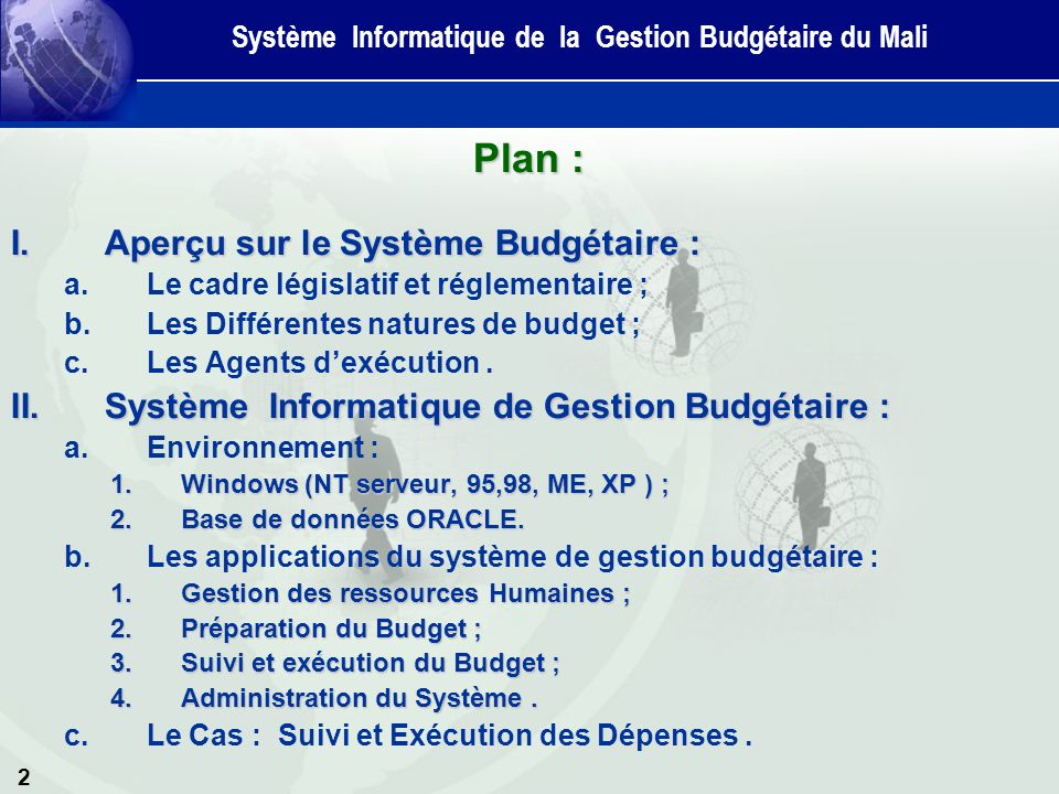 Système Informatique de la Gestion Budgétaire du Mali