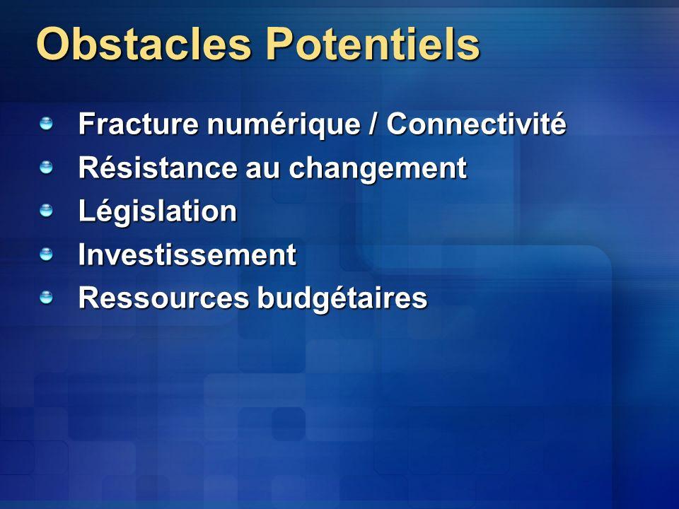 Obstacles Potentiels Fracture numérique / Connectivité
