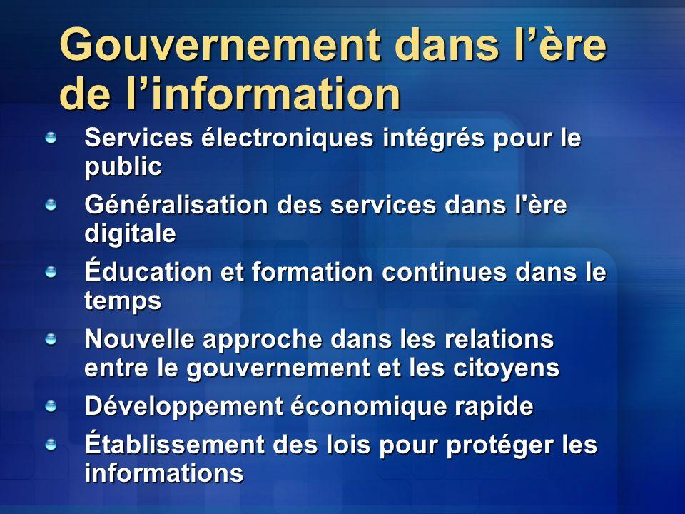 Gouvernement dans l'ère de l'information