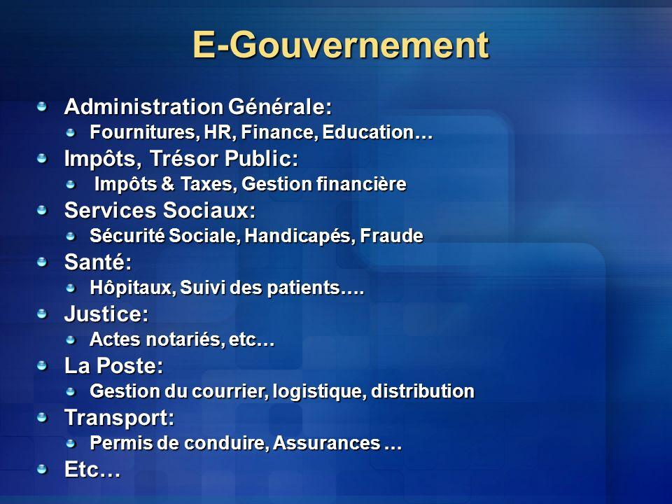 E-Gouvernement Administration Générale: Impôts, Trésor Public: