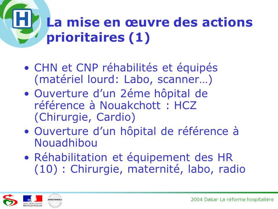 La mise en œuvre des actions prioritaires (1)