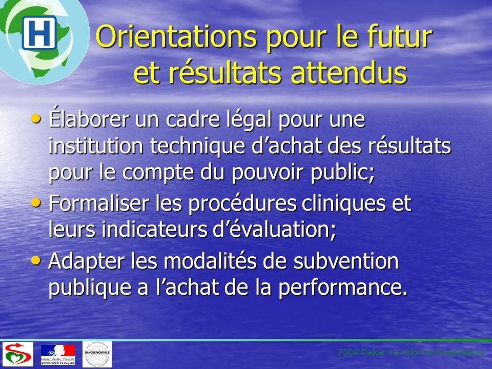 Orientations pour le futur et résultats attendus