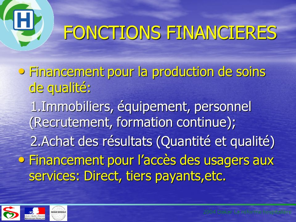 FONCTIONS FINANCIERES