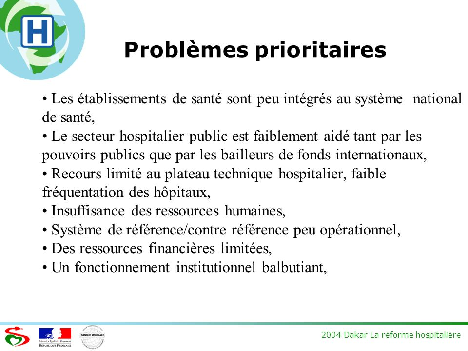 Problèmes prioritaires