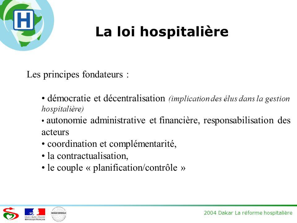 La loi hospitalière Les principes fondateurs :