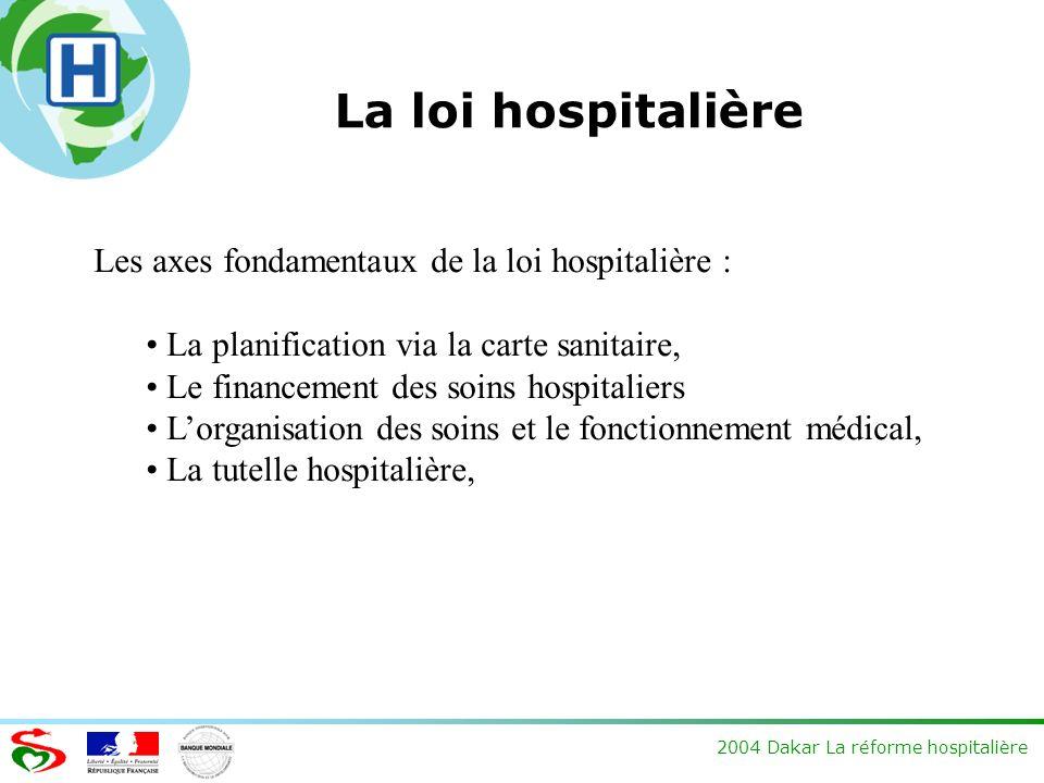 La loi hospitalière Les axes fondamentaux de la loi hospitalière :